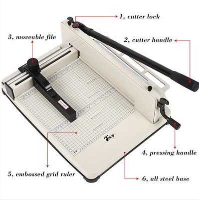 "Multipurpose 17"" Heavy Duty Guillotine Paper Cutter Metal Base A4 Trimmer"