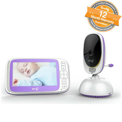 "BT Video Baby Monitor 6000 with 5"" Colour Screen 5 Lullabies and Remote Control"