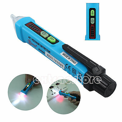12V-1000V AC Non-Contact LED Voltage Detector Pen Volt Sensor Tester Indicator