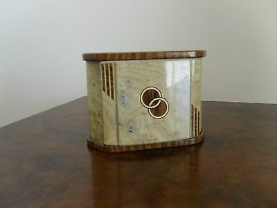 Art deco 1930s metal stylish tin.