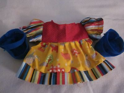 CPK doll clothes/14 inch/3 prints ruffled dress/shoes