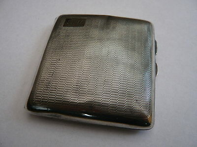 Vintage Heavy Hallmarked 1930,s Solid Sterling Silver Cigarette / Card Case 1933