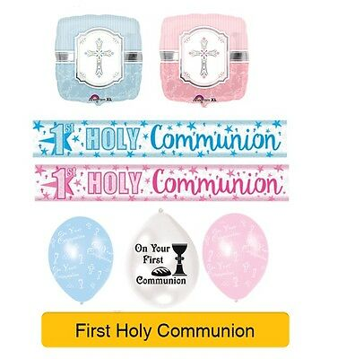 HOLY 1ST/FIRST COMMUNION Party Banners, Balloons, Decorations, Napkins, Foil