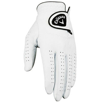 Callaway Golf 2017 Mens Dawn Patrol Leather Golf Glove MLH - White