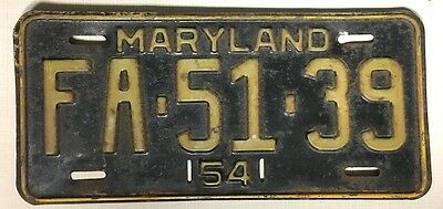 MARYLAND  1954 License Plate