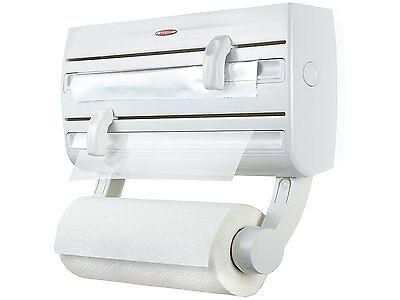 Leifheit Parat F2 Wall-Mounted Foil, Cling Film and Kitchen Roll Holder...