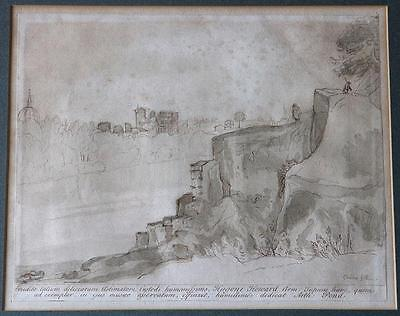 Arthur Pond – Rome and St Peter's – 18th Century engraving after Claude Lorrain