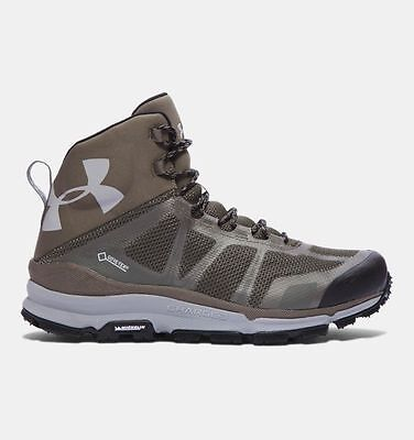 Under armour Men's UA Verge Mid GTX Hiking Boots khaki goretex uk 9 bnib