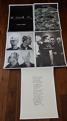 U2 Ie U2Ie Silk Screen Prints Limited Serigraph Collection Of 5 Prints Posters!!