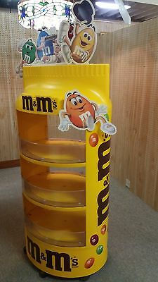 Impressive vintage M&M Floor Candy Counter Store Display Yellow