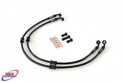 Kawasaki Zx6R Zx 6 R 2007-2012 As3 Venhill Braided Front Brake Lines Hoses Race