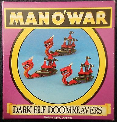 1993 Man O' War Dark Elf Doomreaver 1 Games Workshop MOW Elven Ship Fleet Galley