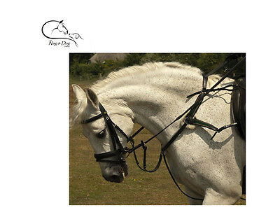 New 5 Point Breastplate + Martingale Black & Brown, XFull/Full/Cob/Pony On Sale