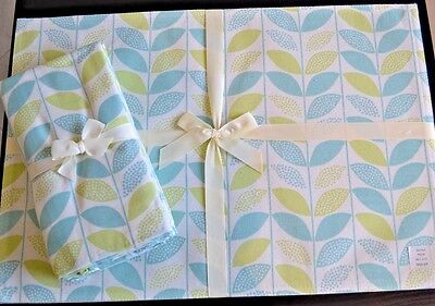 Sprout Aqua Placemats & Napkin Set