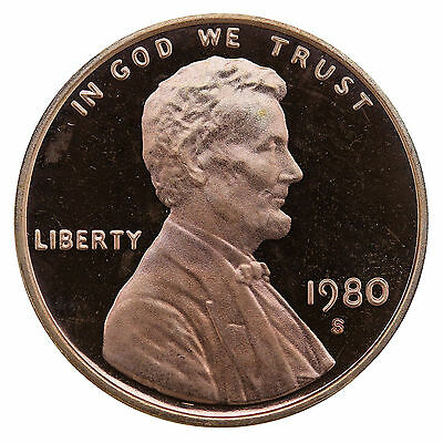 1980-S Lincoln Memorial Cent Penny Gem Proof US Mint Coin Uncirculated UNC