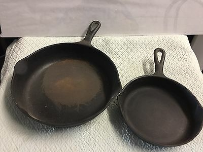 Vintage Cast Iron Wagner Wear Frying Pans lot of 2