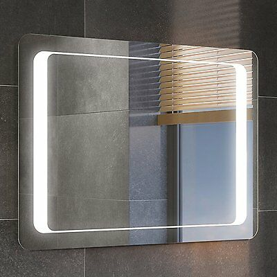 Demister mirror illuminated led mirror with shaver socket and clock sensor on x eur 178 76 Neue design bathroom mirror