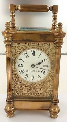 .very Nice / Vintage Mappin & Webb Manual Wind Carriage Clock, Working