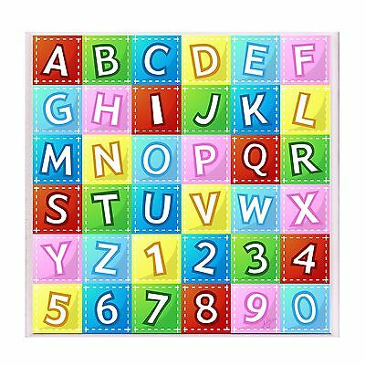 The Kids Room by Stupell Multicolor Alphabet and Numbers Rectangle Wall P... New