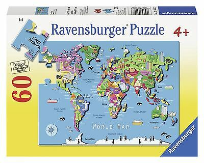 Ravensburger World Map Puzzle (60-Piece) New