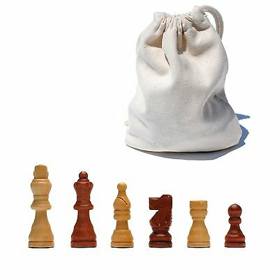 WE Games French Staunton Wood Chessmen with 2.5 in. King New