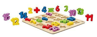 Hape Numbers Stand up Kid's Wooden Learning Puzzle Standard Packaging New