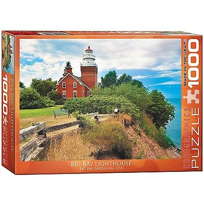 Eurographics Big Bay Lighthouse Michigan Puzzle (1000-Piece) New