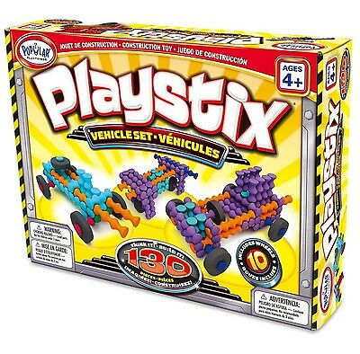 Popular Playthings Playstix Vehicles Set 130 Pieces (Bilingual New