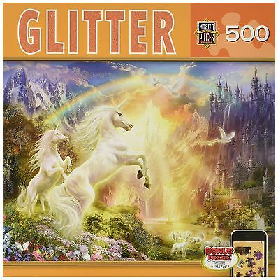 Masterpieces Glitter Rainbow River Jigsaw Puzzle (500-Piece) Art by Jan P... New