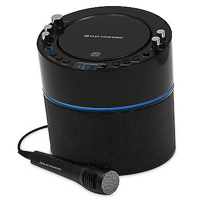 Electrohome Karaoke Machine Speaker System CD+G Player with 2 Microphone ... New