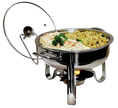 ExcelSteel 4-Quart Heavy Duty Professional Stainless Chafing Dish New