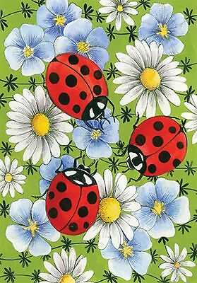 """Toland Home Garden 111153 Flowers and Ladybugs 12.5 X 18"""" Decorative USA-... New"""