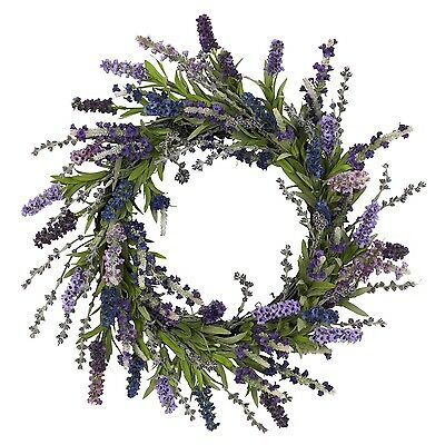 Nearly Natural 4785 Lavender Wreath 20-Inch Purple New