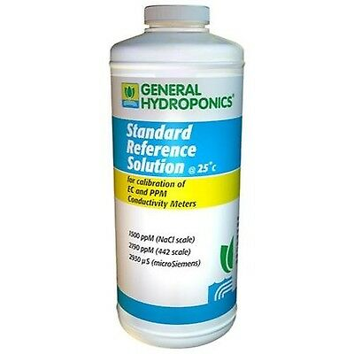 General Hydroponics 1500 PPM Calibration Solution for Gardening 8-Ounce New