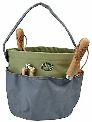 Esschert Design Round Garden Tool Bag Gray New