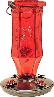 Perky-Pet Ruby Starburst Vintage Glass Hummingbird Feeder 8139-2 New