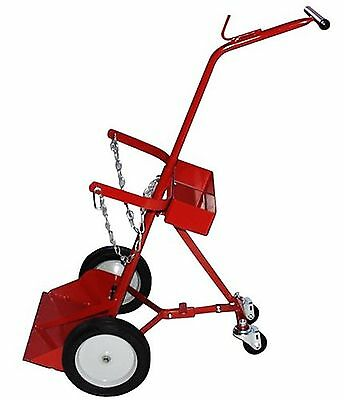 Milwaukee Hand Trucks 40144 2-Tank Cylinder Truck with Retractable Casters New