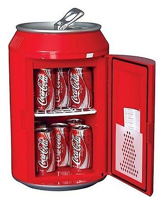 Coca Cola CC10G 8-Can Capacity Can Shaped Fridge Red New