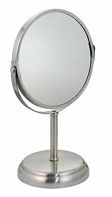 InterDesign York Metal Free Standing Vanity Makeup Mirror for Bathroom Co... New