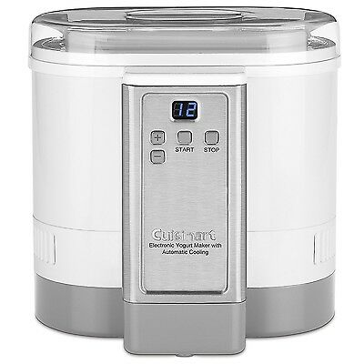 CYM-100C Cuisinart Electronic Yogurt Maker with Automatic Cooling New