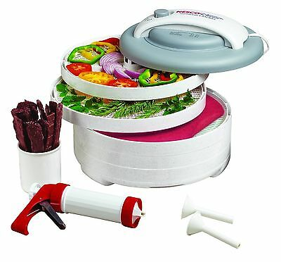 Nesco FD-61WHC Snackmaster Express Food Dehydrator All-In-One Kit with Je... New