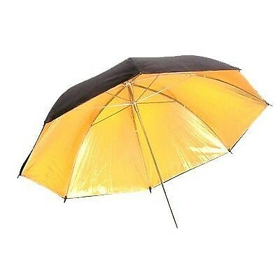 CowboyStudio 33in Black & Gold Photography Photo Studio Reflective Umbrella New