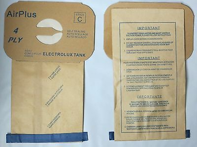 Dvc-48 Electrolux Type C Tank Model Vacuum Cleaner Bags 4 Ply New