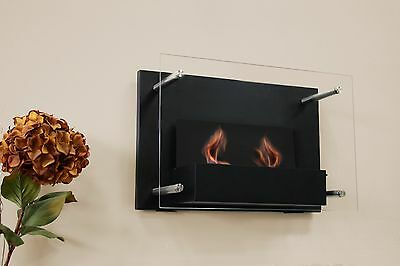 Paramount Gel Fuel Wall Mount Fireplace New