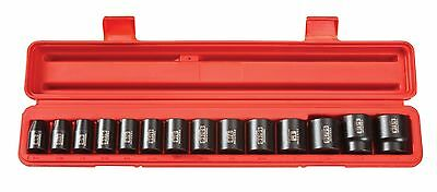 TEKTON 4816 1/2-Inch Drive Shallow Impact Socket Set Inch Cr-V 6-Point 3/... New