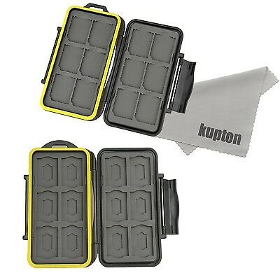Kupton Memory Card Case Holder Water-resistance Storage Protector Box: 12... New