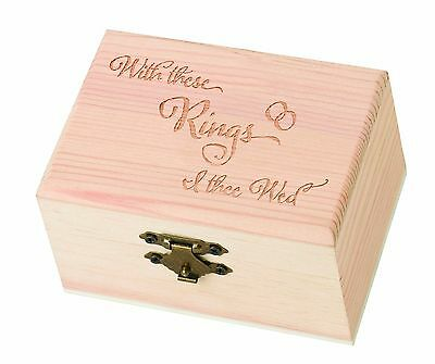 Lillian Rose Pine with These Rings I Thee Wed Ring Bearer Box 4.875-Inch ... New