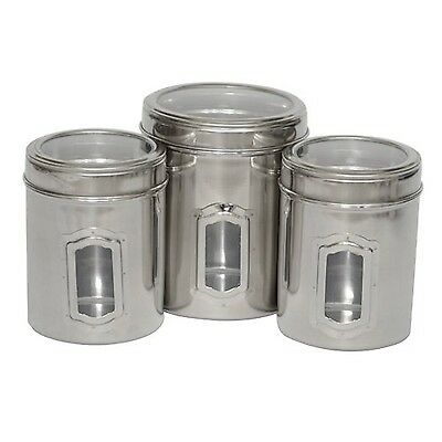 Iconic Pet 51662 Set of 3 Different Sizes-Canister with See Through Lids New