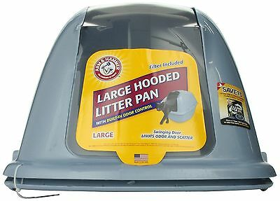 Arm & Hammer 22191 Hooded Cat Pan/Litter Box Large Pearl Ash Blue New