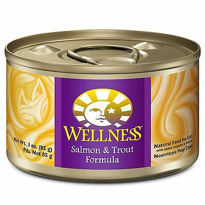 Wellness Complete Health Natural Wet Canned Cat Food Salmon & Trout Pate ... New